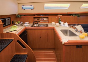 Hunter 33 galley
