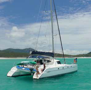 Whitsunday Getaway at anchor