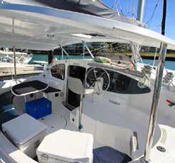 Whitsunday Getaway cockpit